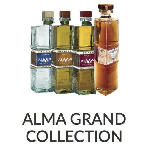 Alma De Agave 4 Bottle Grand Collection 1 Each of Blanco, Reposado, Anejo and Autentico Extra Anejo 750ml