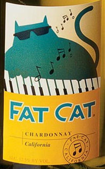12 Bottle Case Fat Cat California Chardonnay 2016 w/ Free Shipping