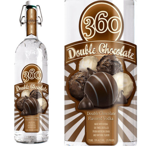 360 Vodka Double Chocolate Vodka 750ml