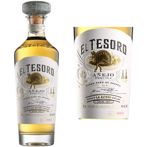 El Tesoro Anejo Tequila 750ml