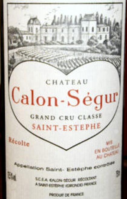 Chateau Calon Segur St. Estephe 2000