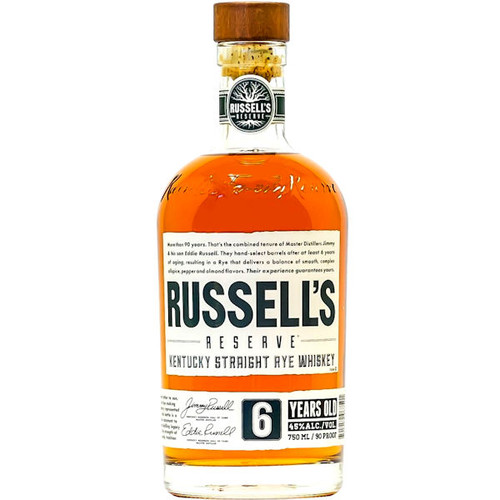 Russell's Reserve 6 Year Old Kentucky Straight Rye 750ML
