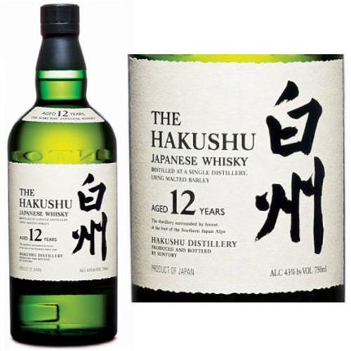 Suntory Hakushu 12 Year Old Single Malt Whisky 750ml