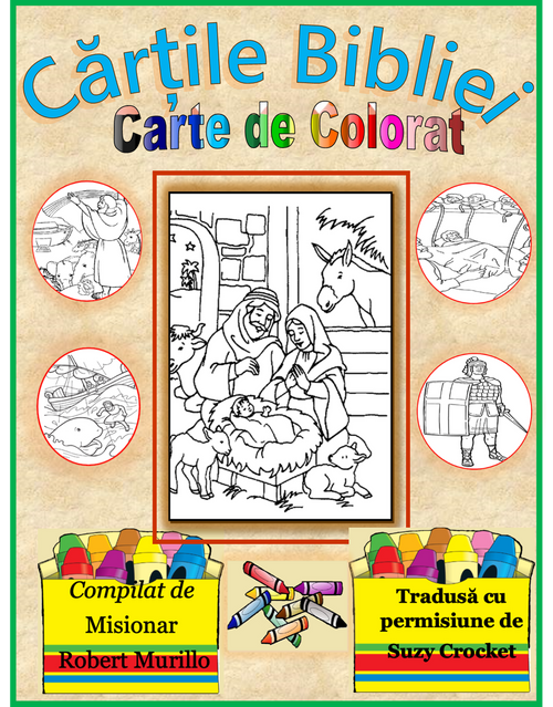 Books Of The Bible Coloring Book Romanian Lamb Publications