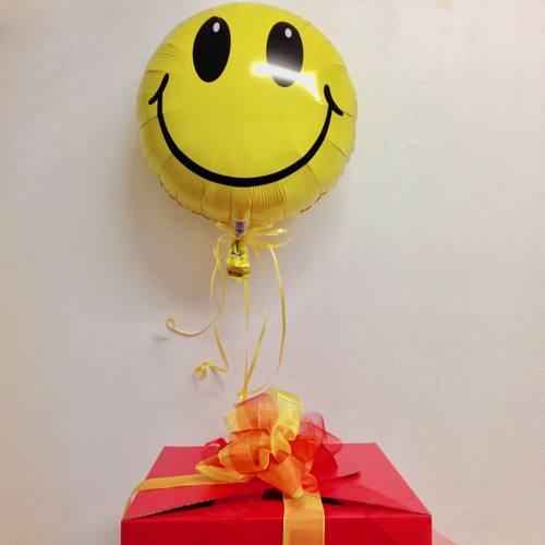 Floating helium balloon, many occasions available - birthday, get well soon, baby girl, baby boy, anniversary, graduation, smiley face.