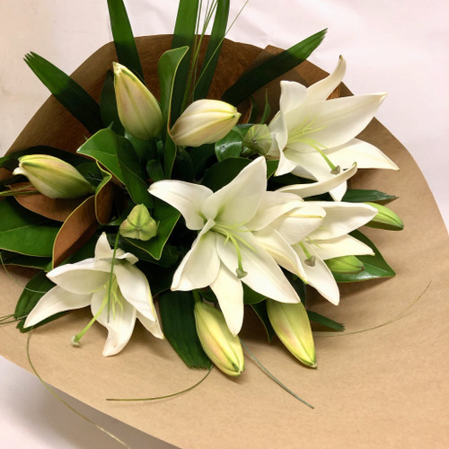 Eco Friendly White Oriental Lilies