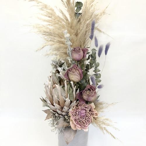 Lavender & Pink Delight   Dried and Preserved Arrangement