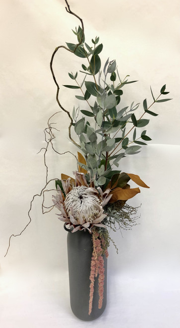 Protea Vase | Dried & Preserved Arrangement