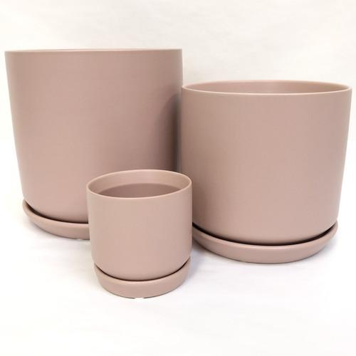 Blush Pink Pot and Saucer