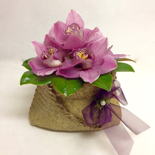 Kete bag of Orchids