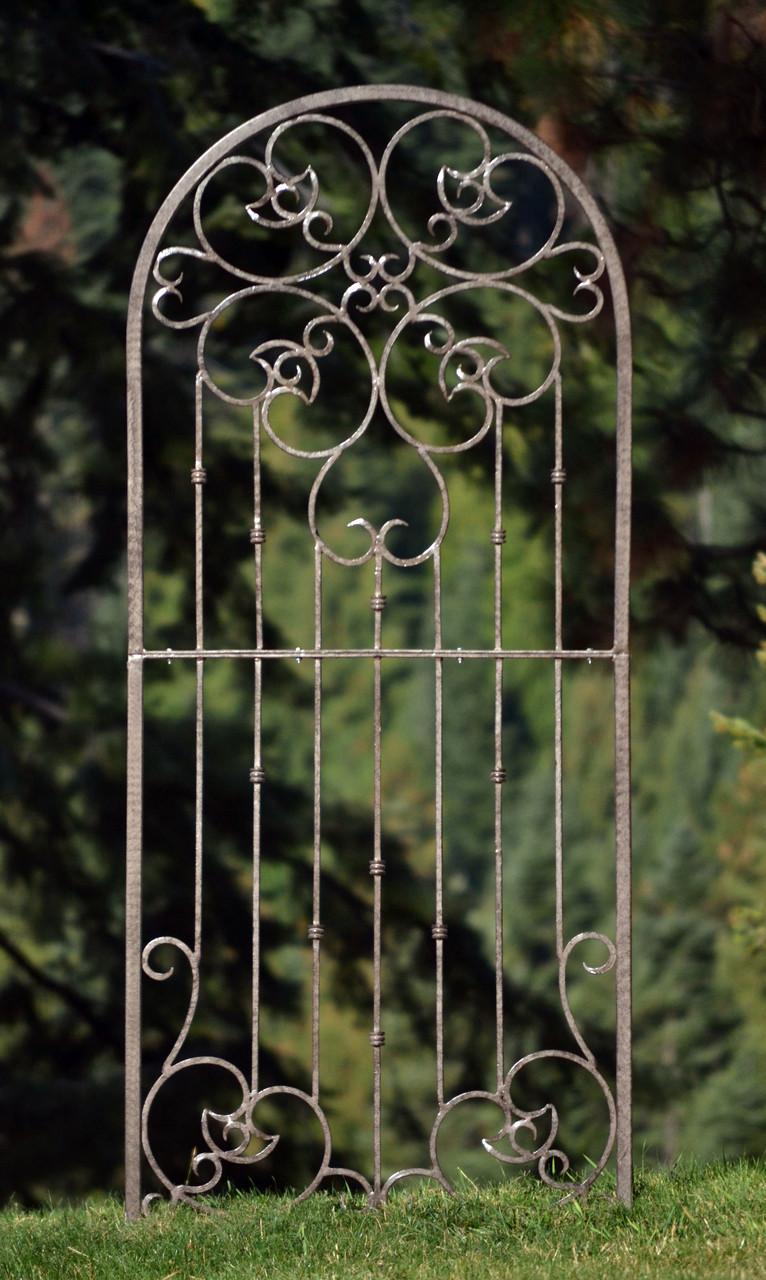 H Potter Large Wrought Iron Ornamental Metal Garden Trellis