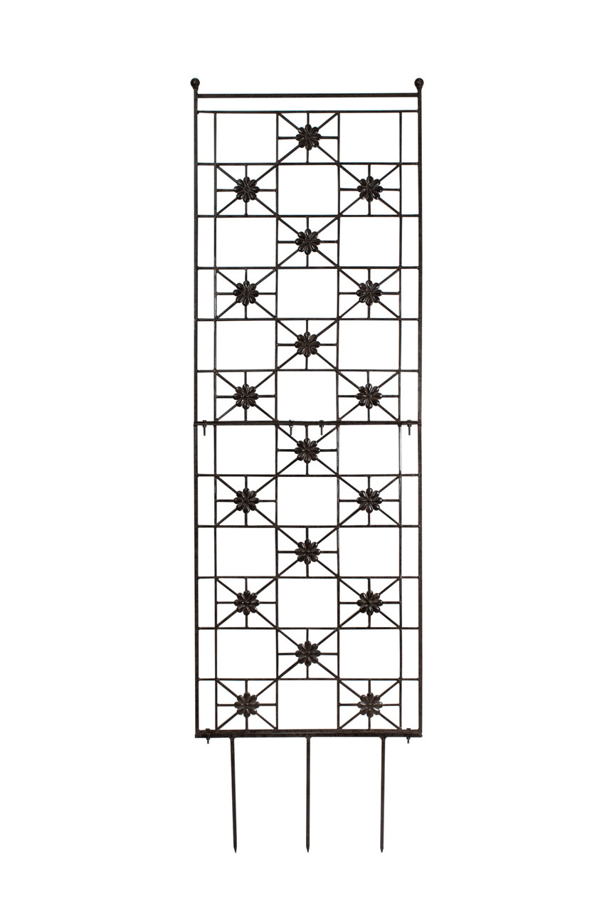 H Potter 5 5 Foot Tall Garden Flower Trellis Wrought Iron Heavy Scroll Metal Decoration Lawn Patio Wall Decor Screen For Rose Clematis Ivy Deck