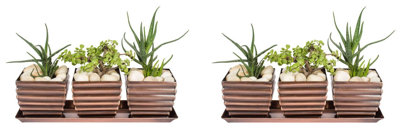 H Potter Planter Pots 2 Sets Of 3 Outdoor U0026 Indoor Use U2013 Square, Succulent