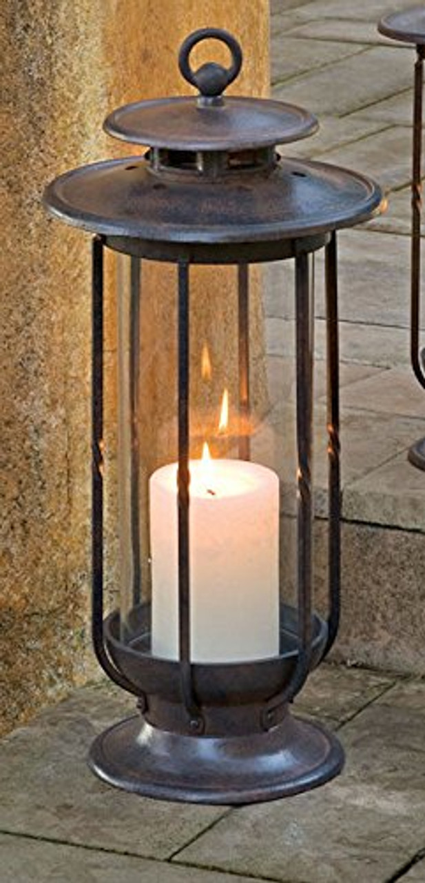 Antique Vintage Style Elegant Large Garden Lantern Candle Holder Indoor Outdoor