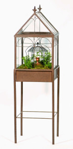 H Potter Terrarium Wardian Case Glass Plant Container free standing