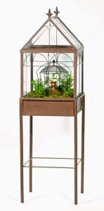 H Potter Terrarium Wardian Case Glass Plant Container free standing
