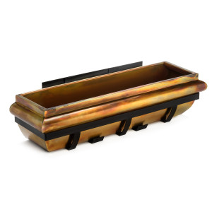 H Potter rustic copper window box gar229