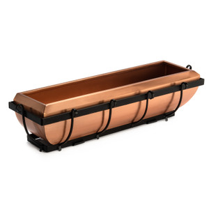 H Potter 30 inch copper window box planter deck railing