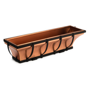 H Potter copper window box planter