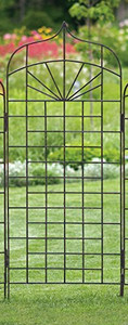 H Potter Wall Trellis trellises metal garden Outdoor Decor screen wrought iron vine ivy pot  rose patio wire tomato wedding planter decoration small vegetable lattice large privacy Moroccan scroll flower tall spiral