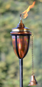H Potter Copper Rustic Patio Garden Tiki Torch