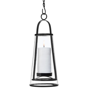 H Potter Decorative Hanging Patio Deck Candle Holder Lantern Indoor Outdoor