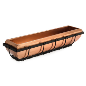 H Potter 36 inch copper window box planter
