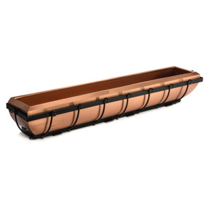h potter copper window box planter outdoor house casa plantador trough containers hanging plant holder deck rail balcony decorative wall vertical railing pot rectangular hanging holder porch patio basket long garden large windowsill long herb succulent shed fence rustic modern heavy duty