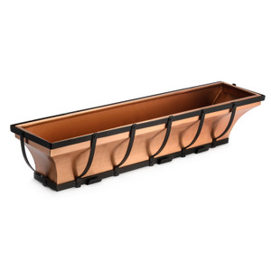 H Potter 36 inch copper window box planter deck railings
