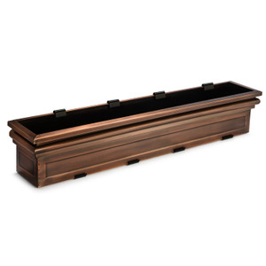H Potter window box planter plant container metal outdoor decor stainless steel antique copper