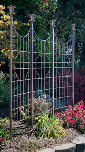 h potter wrought iron trellis metal scroll garden panel screen vines flower wedding arch outdoor lawn patio deck gift arbor obelisk pot indoor archway yard rustic wall art climbing plants ivy topiary home decor plant planter fence lattice housewarming privacy air conditioner cover vertical arched vine support tall landscapers