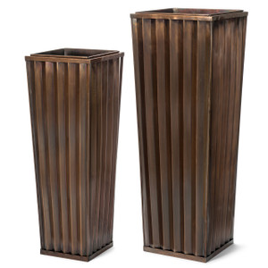 H Potter Tall Metal Planters for Patio or Deck