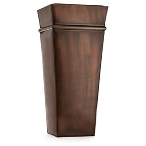 H Potter tall planter metal outdoor indoor flower container antique copper stainless steel handcrafted