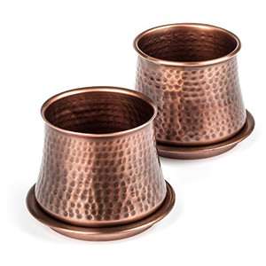 H Potter classic style planter set, hand hammered by artisans