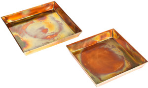 Set of 2 Drip Trays for GAR271 Rustic H Potter Planters Tall