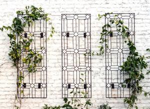 trellis garden trellis yard art wall art metal garden trellis garden gift climbing plants wall mount trellis bracket