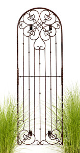 H Potter Wall Trellis 8 ft Wrought Iron Ornamental Metal with 4 Wall Brackets
