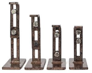 Metal Trellis Wall Mounting Bracket H Potter Set of 4 for Climbing Plants Wall Art