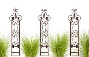 Wall Trellis trellises metal garden Outdoor Decor screen wrought iron vine ivy pot  rose patio wire tomato wedding planter decoration small vegetable lattice large privacy Moroccan scroll flower tall spiral