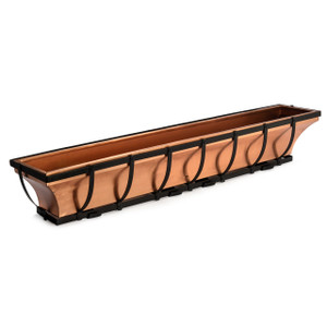 Warehouse Deals H Potter Used Copper Window Box with Metal Frame 48 inch