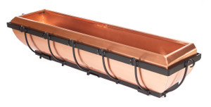 "Warehouse Deals H Potter Used Copper Window Box Hanging Flower Deck Planter 30"" Model Gar134"