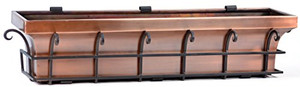 H Potter stainless steel window box planter antique copper finish