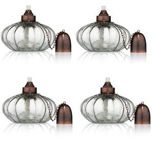 H Potter Outdoor Deck Torch - Garden Patio Table Top Lighting Set of 4