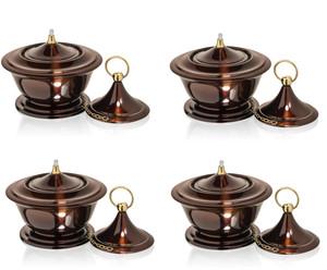 H Potter Table Top Patio Garden Torch Outdoor Decor Set of 4