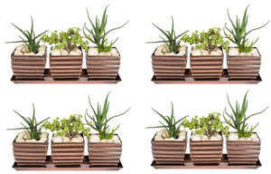 H Potter Planter Pots 4 Sets of 3 Outdoor Indoor Square Succulent Herb Box