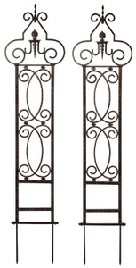 H Potter Metal Garden Scroll Trellis Wrought Iron Set of 2