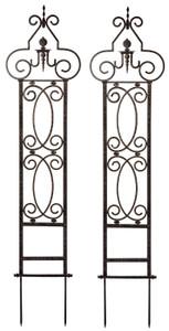 H Potter Metal Garden Scroll Trellis Wrought Iron Set of 2