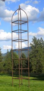 H Potter Chic Farming Tall Iron Trellis for Climbing Plants