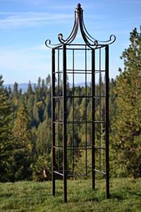 H Potter Trellis Wrought Iron Ornamental Large Garden Obelisk for Climbing Plants
