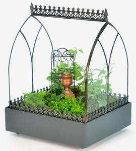 H Potter Terrarium Wardian Case Glass Vault Plant Container